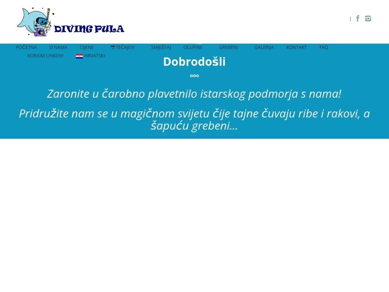 Screenshot von www.diving-pula.com