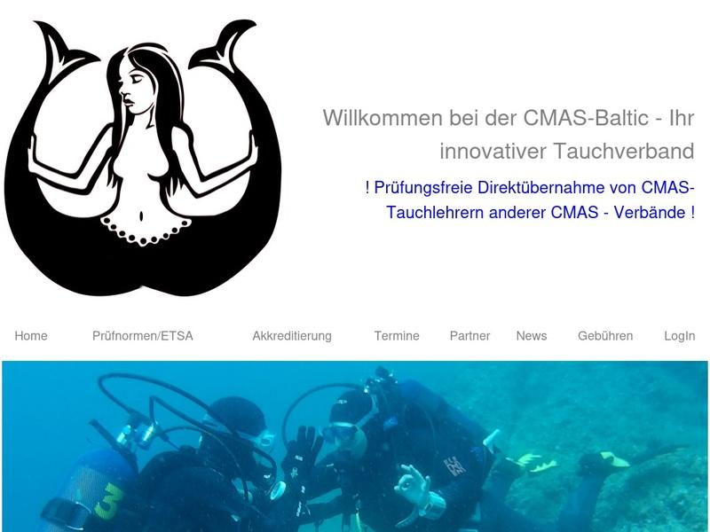 Screenshot von www.cmas-baltic.de
