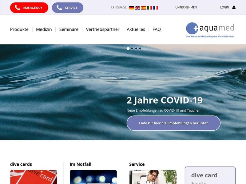 Screenshot von www.aqua-med.eu